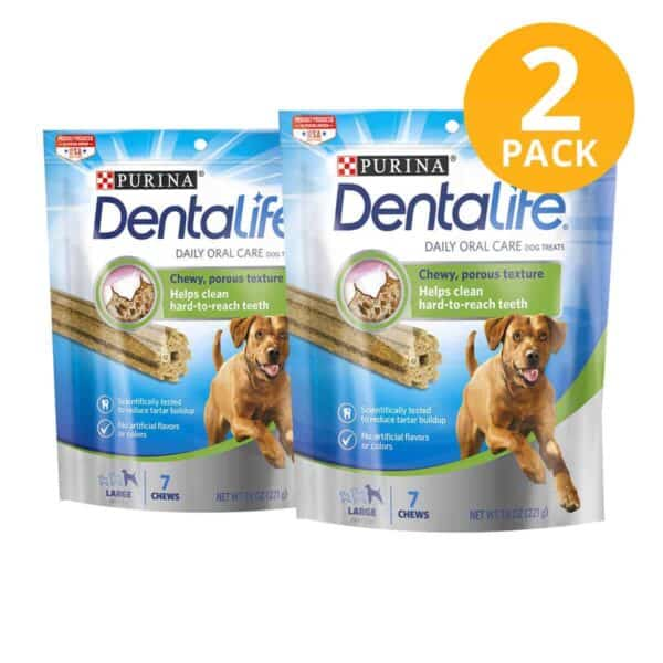 Purina DentaLife Daily Oral Care Large Dental Treat, 7.8 OZ (Pack de 2)