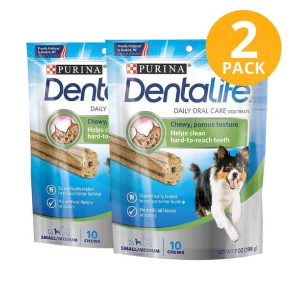 Purina DentaLife Daily Oral Care Small/Medium Dental Treat, 7 OZ (Pack de 2)