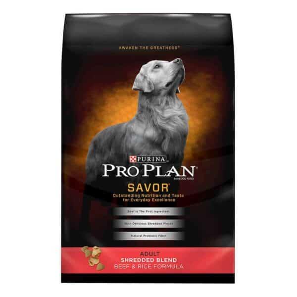 Purina Pro Plan Savor Adult Shredded Blend, Beef & Rice, 6 lb
