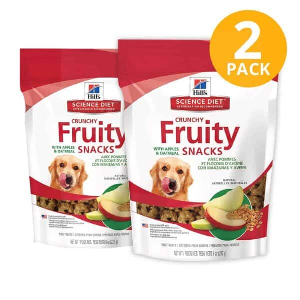 Hill's Science Diet Fruity Snacks Apples & Oatmeal Treats (Pack de 2)