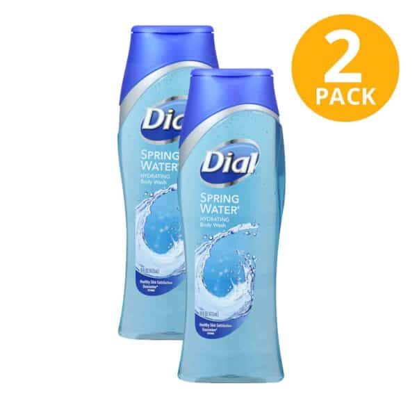 Dial Spring Water Hydrating Body Wash, 16 OZ (Pack de 2)