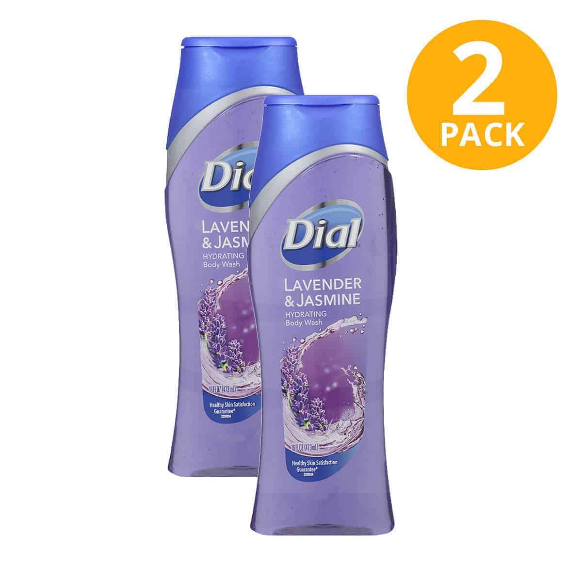 Dial Lavender & Jasmine Hydrating Body Wash, 16 OZ (Pack de 2)