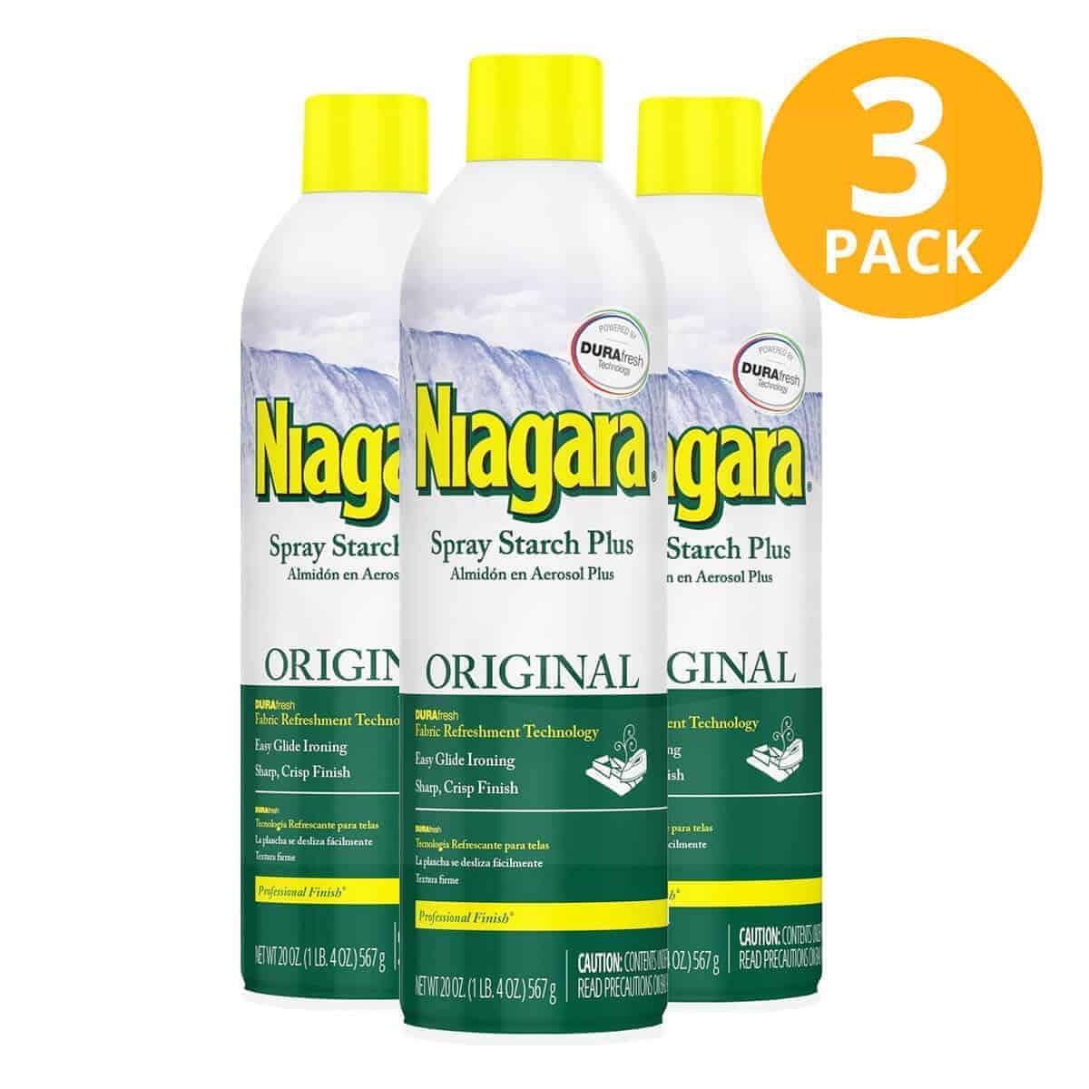 Niagara Spray Starch Plus Original, Almidón en Aerosol, 20 OZ (Pack de 3)