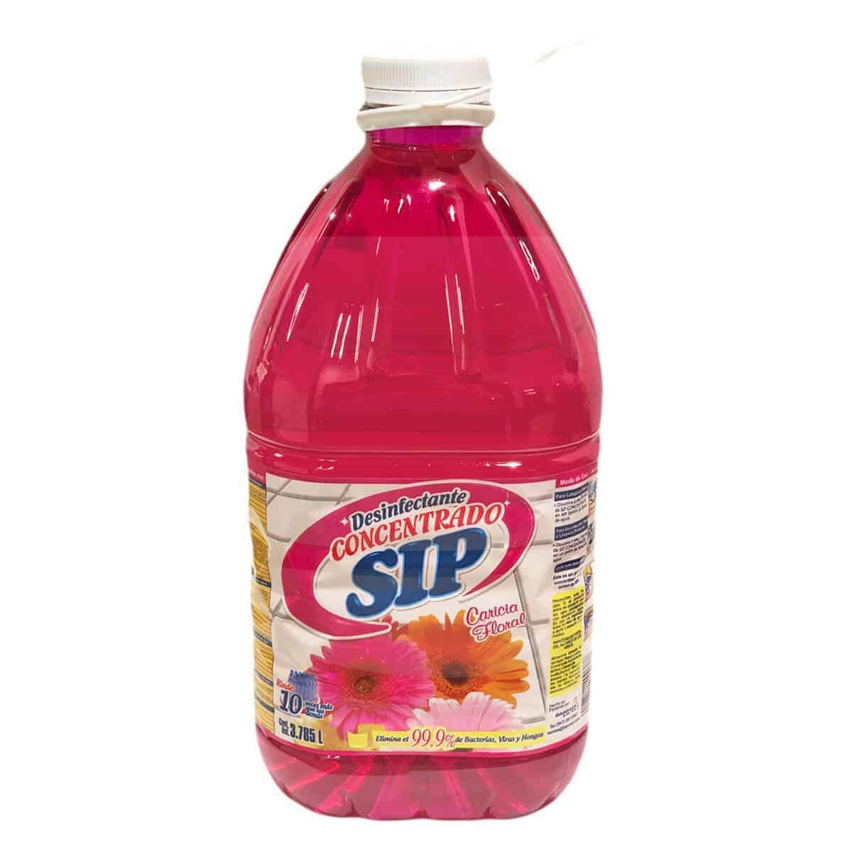 Desinfectante SIP Concentrado Multiuso Caricia Floral, 1 Galón