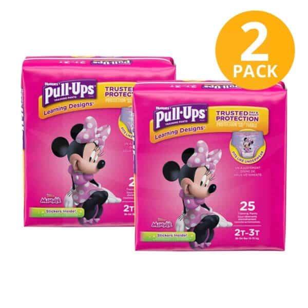 Huggies Pull Ups para Niñas 2T/3T, 25 Pañales para Entrenamiento