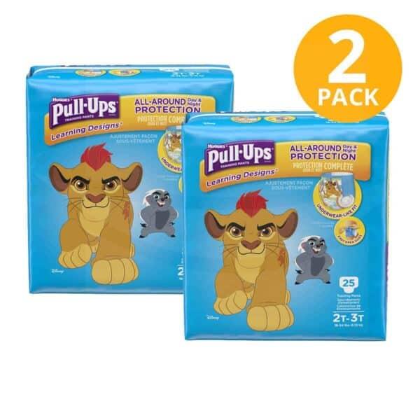 Huggies Pull Ups para Niños 2T/3T, 25 Pañales para Entrenamiento