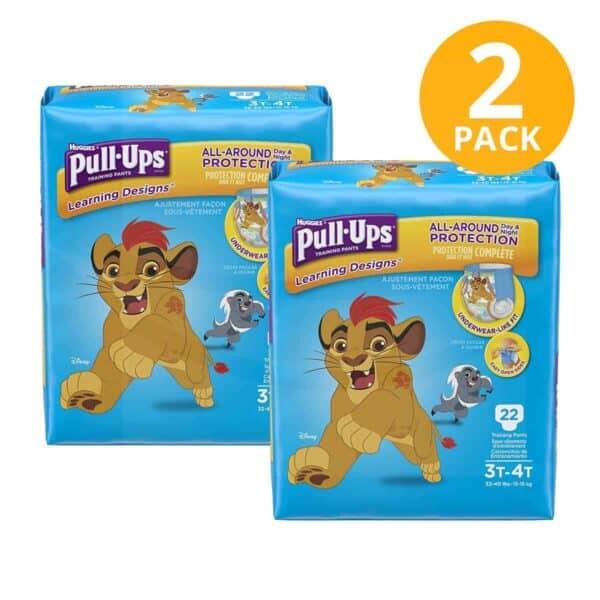 Huggies Pull Ups para Niños 3T/4T, 22 Pañales para Entrenamiento