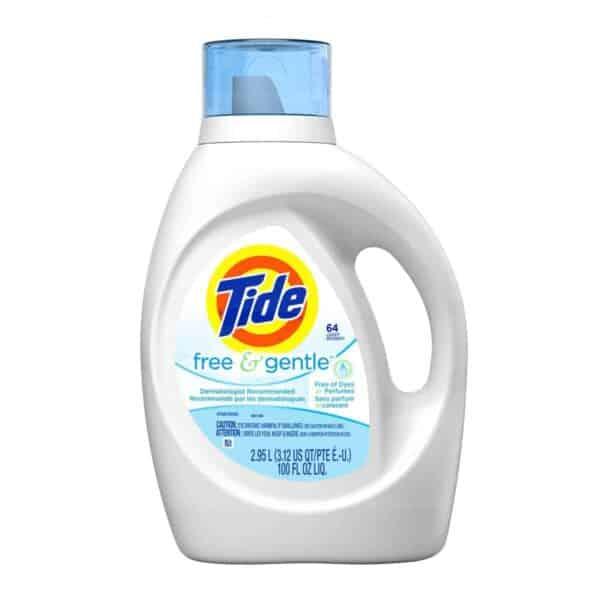 Tide Free & Gentle, Detergente Líquido, 100 OZ