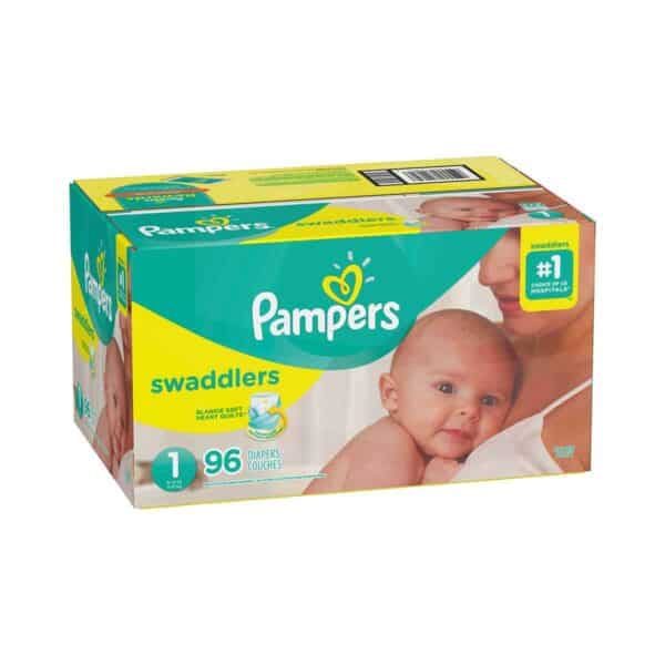 PAMPERS SWADDLERS TALLA 1 CAJA 1/96