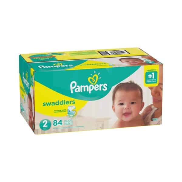 PAMPERS SWADDLERS TALLA 2 CAJA 1/84