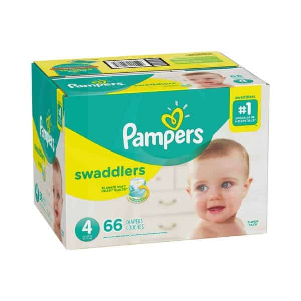 PAMPERS SWADDLERS TALLA 4 CAJA 1/66