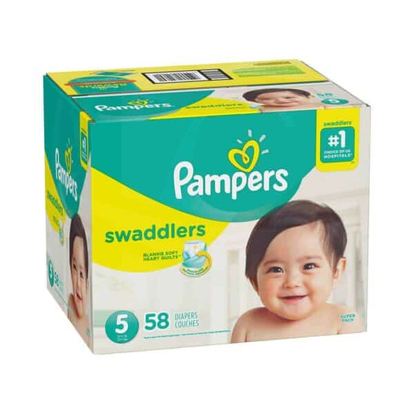 PAMPERS SWADDLERS TALLA 5 CAJA 1/58
