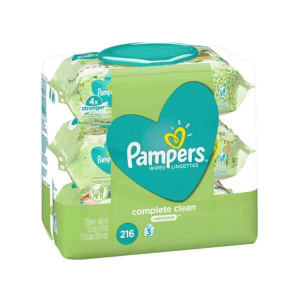 PAMPERS WIPES CC Natural Clean UnScented 3X FTMT 4/216