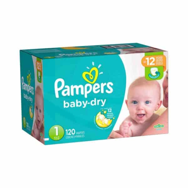 Pampers Baby Dry talla 1 Caja 1/120 pañales