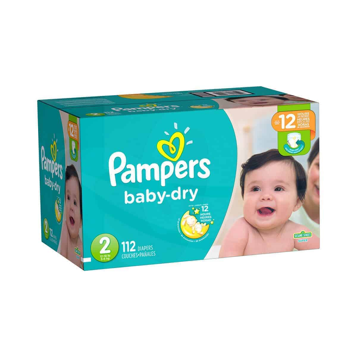 Pampers Baby Dry talla 2 Caja 1/112 pañales