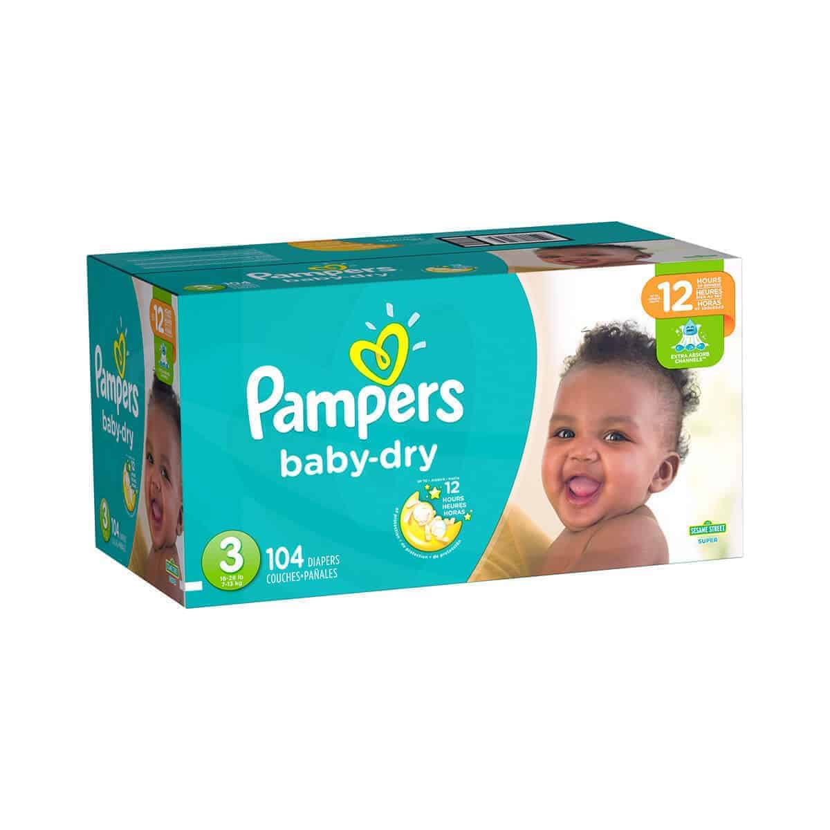 Pampers Baby Dry talla 3 Caja 1/104 pañales