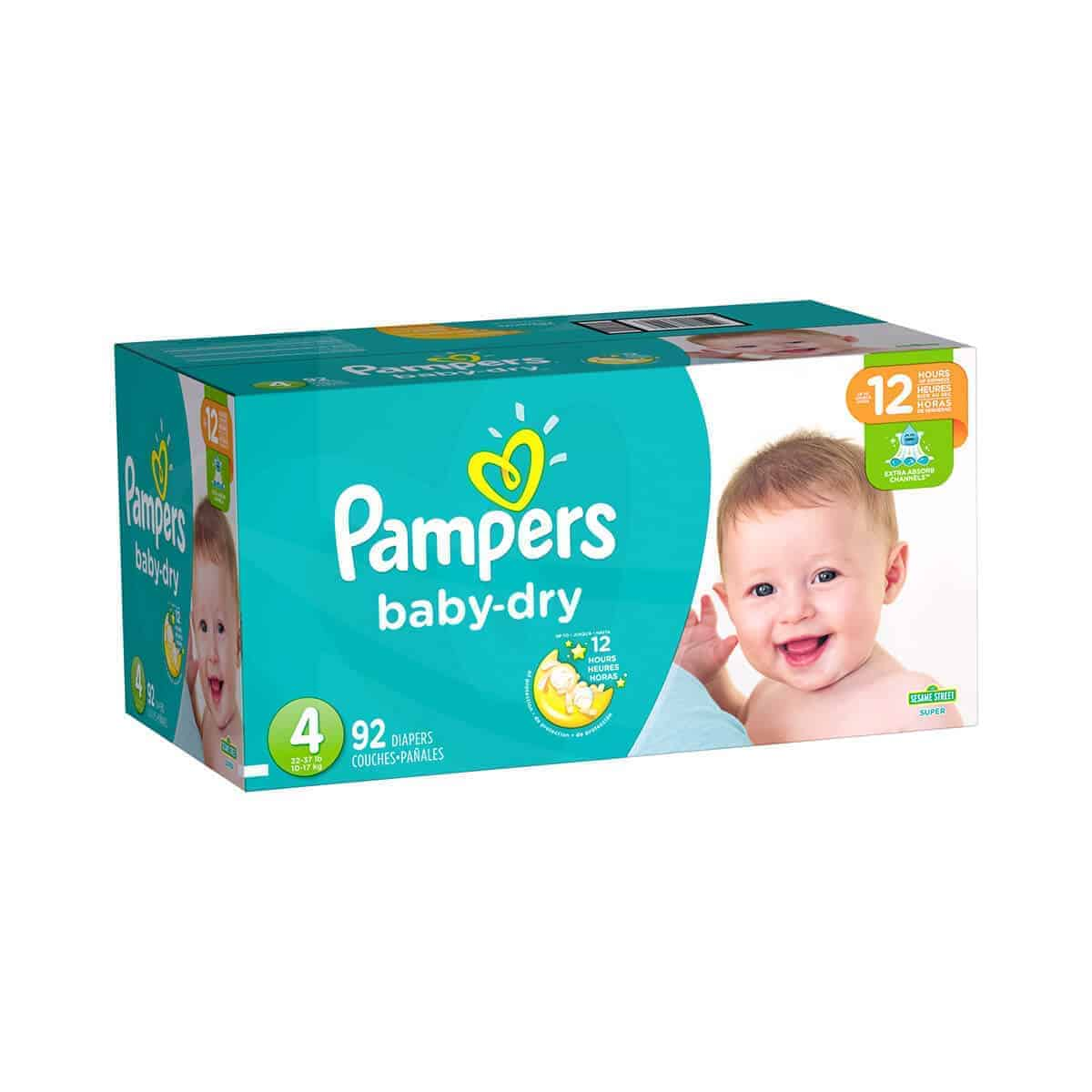 Pampers Baby Dry talla 4 Caja 1/92 pañales