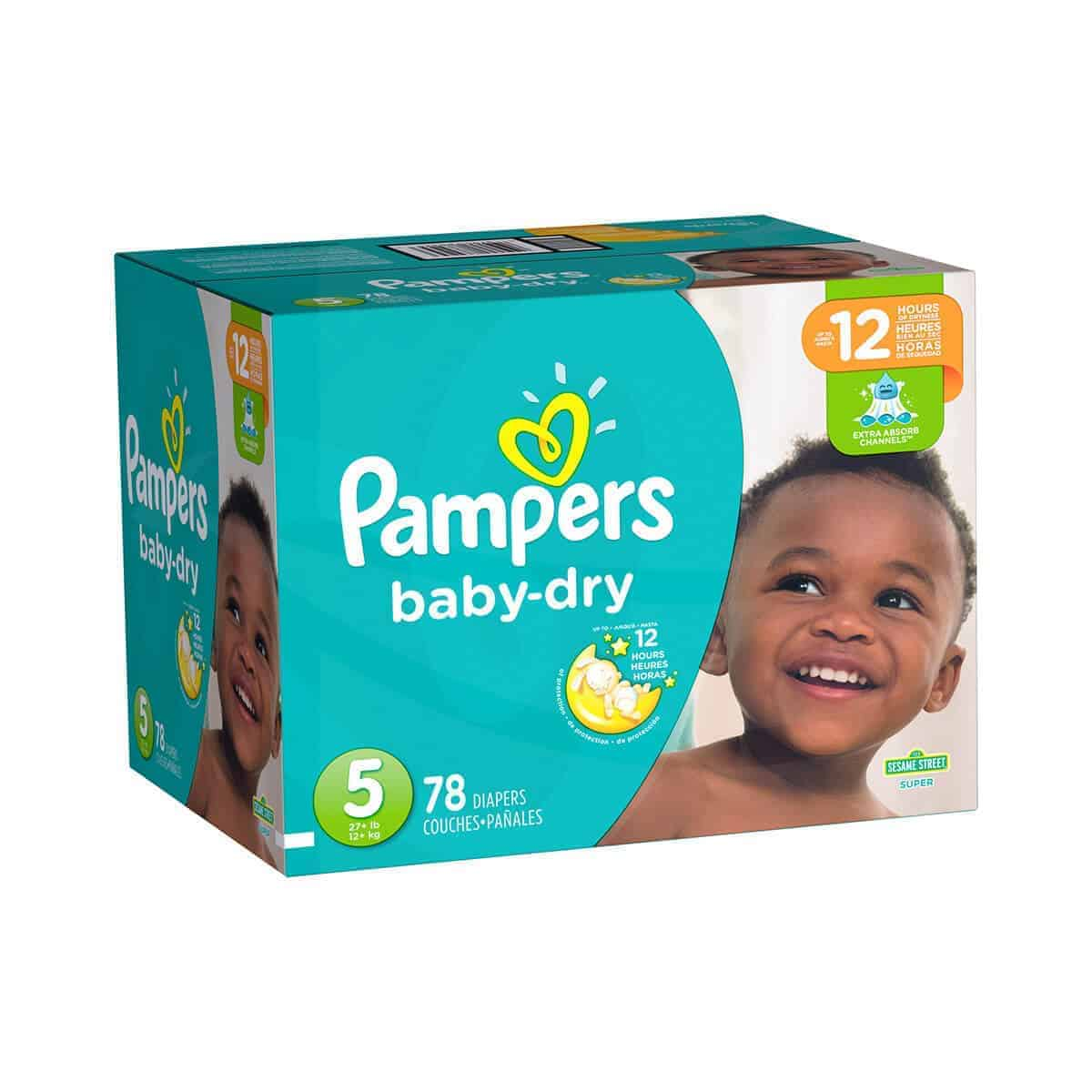 Pampers Baby Dry talla 5 Caja 1/78 pañales