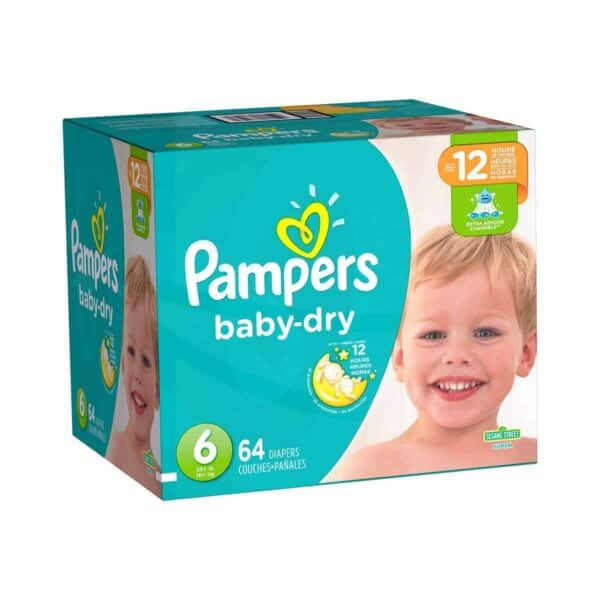 Pampers Baby Dry talla 6 Caja 1/64 pañales