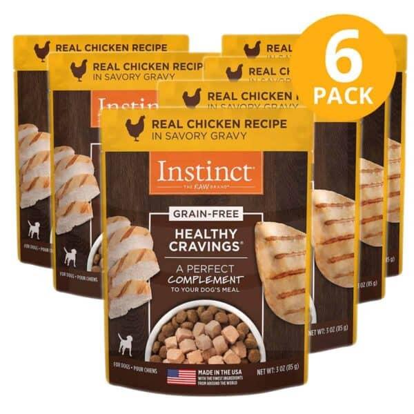 Instinct Healthy Cravings Grain Free Chicken Pouch, 3 OZ (Pack de 6)