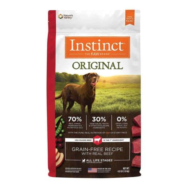 Instinct Original Grain Free Beef, 4.0 lb (1.8 kg)