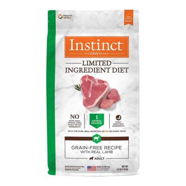 Instinct Limited Ingredient Diet Grain Free Lamb, 4.0 lb (1.8 kg)