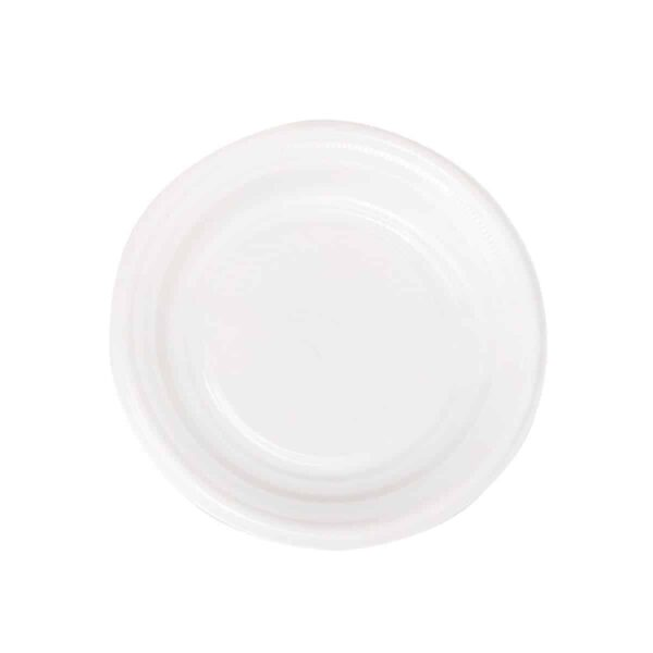 Platos Pequeños Blancos de Plástico Trend, 24