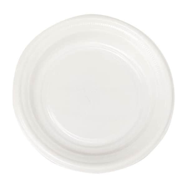 Platos Grandes Blancos de Plástico Trend, 24