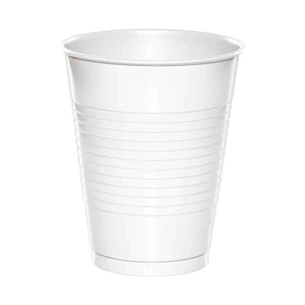 Vasos 12oz Blancos de Plástico Trend, 24