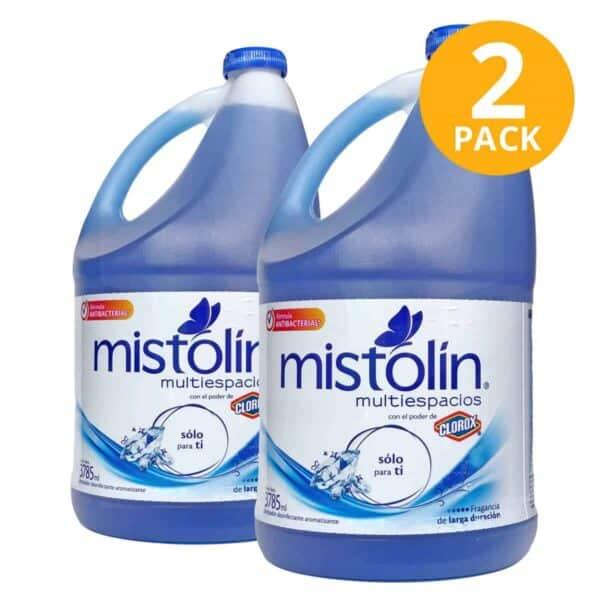 Mistolín Multiespacios Sólo Para Ti, Limpiador Desinfectante, 1 Galón (Pack de 2)