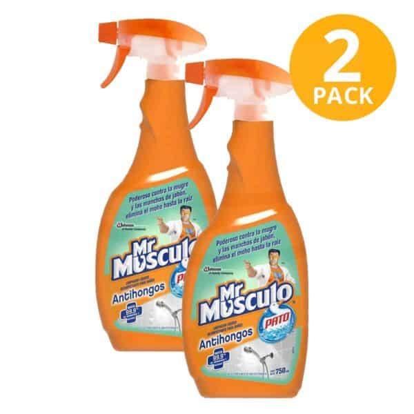 Mr Músculo Antihongos Pato, Limpiador Desinfectante Baños, 750 ml (Pack de 2)
