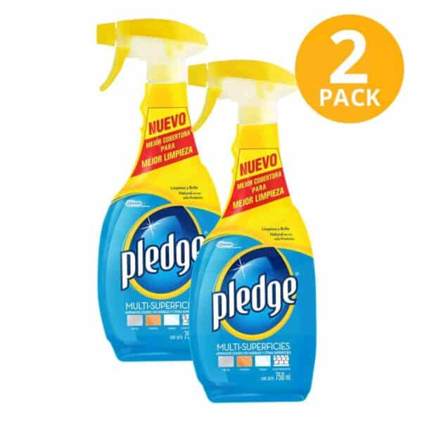 Pledge Multisuperficies, Limpiador de Muebles y Superficies, 750 ml (Pack de 2)