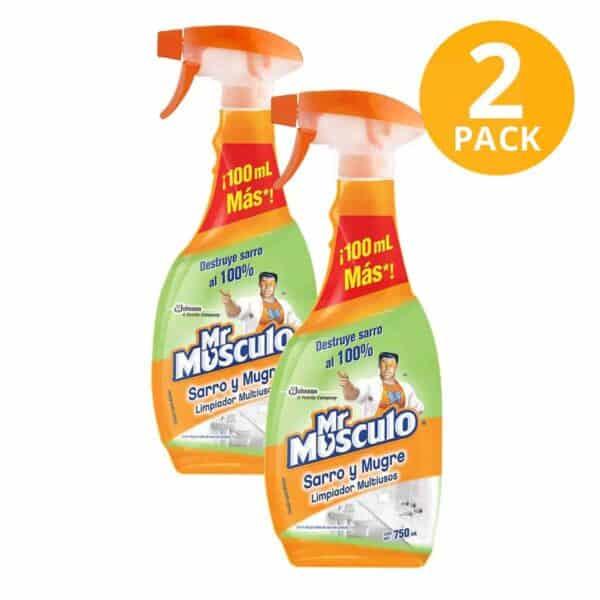 Mr Músculo Sarro y Mugre Pato, Limpiador Desinfectante Baños, 750 ml (Pack de 2)