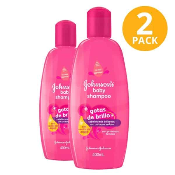 Shampoo Gotas de Brillo Johnson's Baby, 400 ml (Pack de 2)