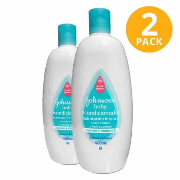 Acondicionador Hidratación Intensa Johnson's Baby, 400 ml (Pack de 2)