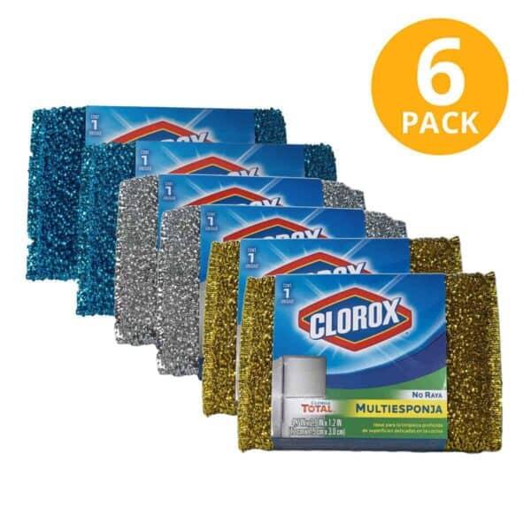 Clorox Multiesponja, Esponja para Cocina (Pack de 6)