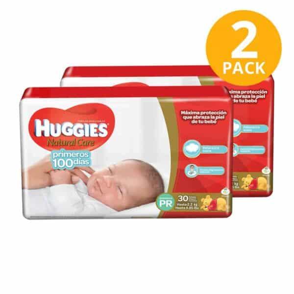 Huggies Primeros 100 Días, Prematuro, 60 Pañales (Pack de 2 x 30)