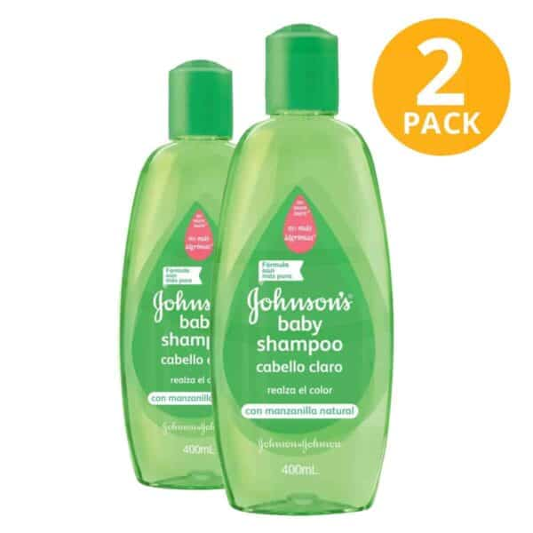 Shampoo Cabello Claro con Manzanilla Natural Johnson's Baby, 400 ml (Pack de 2)