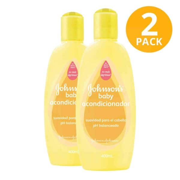 Acondicionador Original con pH Balanceado Johnson's Baby, 400 ml (Pack de 2)