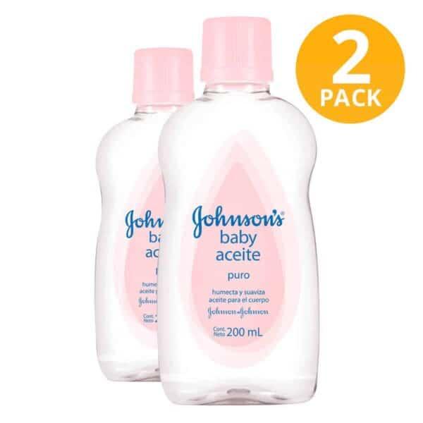 Baby Aceite Original Puro Johnson's Baby, 200 ml (Pack de 2)