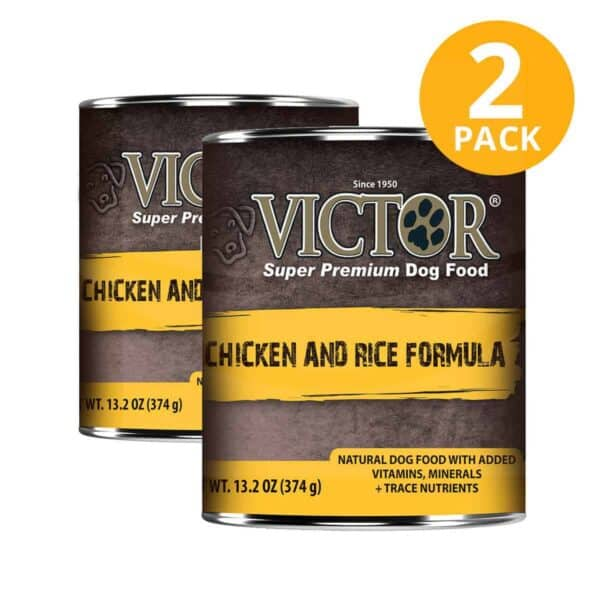 Victor Chicken & Rice Formula Canned, 13.2 OZ (Pack de 2)