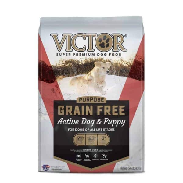 Victor Grain FreeActive Dog & Puppy, 15 lb (6.8 kg)