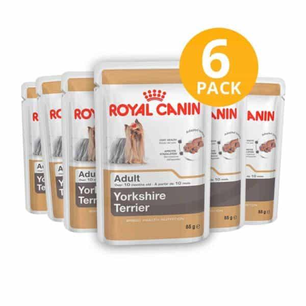 Royal Canin Yorkshire Terrier Pouch, 85 gr (Pack de 6)