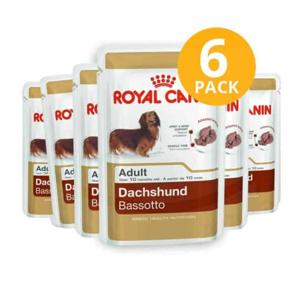 Royal Canin Dachshund Pouch, 85 gr (Pack de 6)