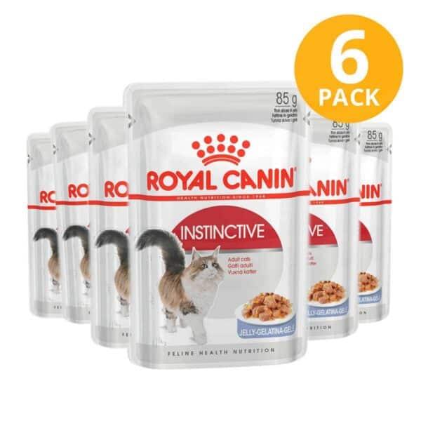 Royal Canin Instinctive Adult Pouch, 85 gr (Pack de 6)