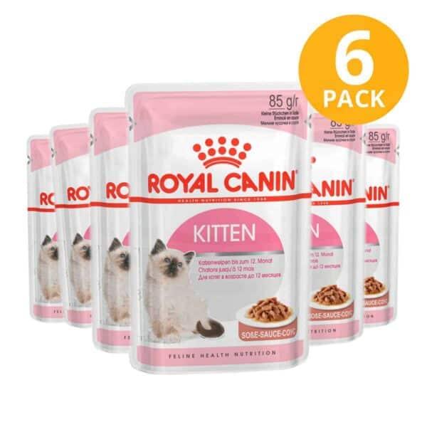 Royal Canin Kitten Instinctive Pouch, 85 gr (Pack de 6)