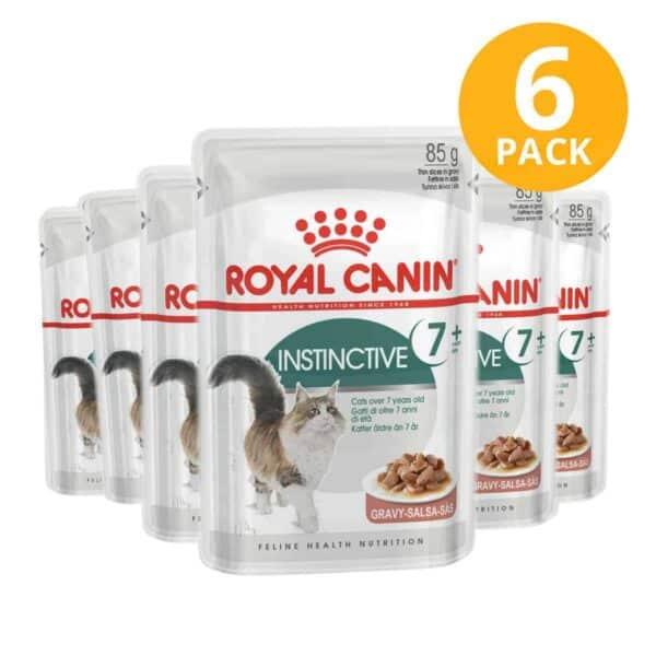 Royal Canin Instinctive +7 Pouch, 85 gr (Pack de 6)